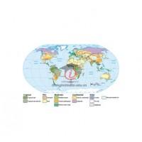 Bản đồ các kiểu khí hậu trên trái đất